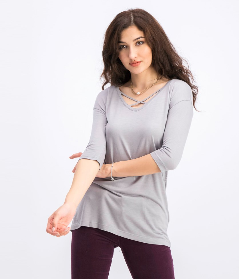 Women's Plain Top, Grey