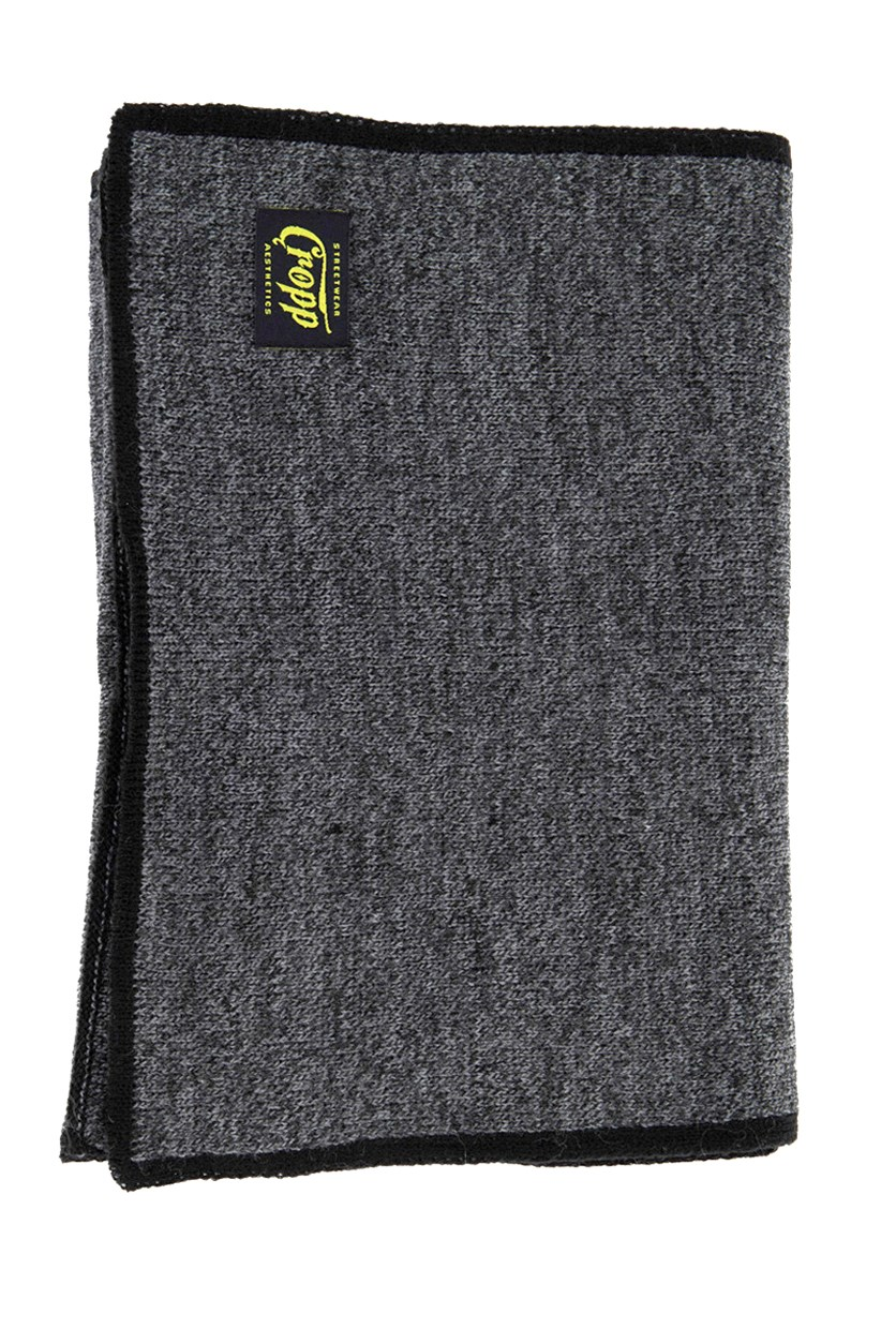 Mens Tectured Scarf, Drak Grey