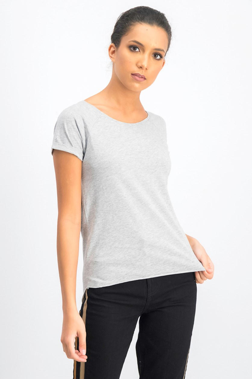 Women's Short Sleeve T-Shirt, Heather Grey