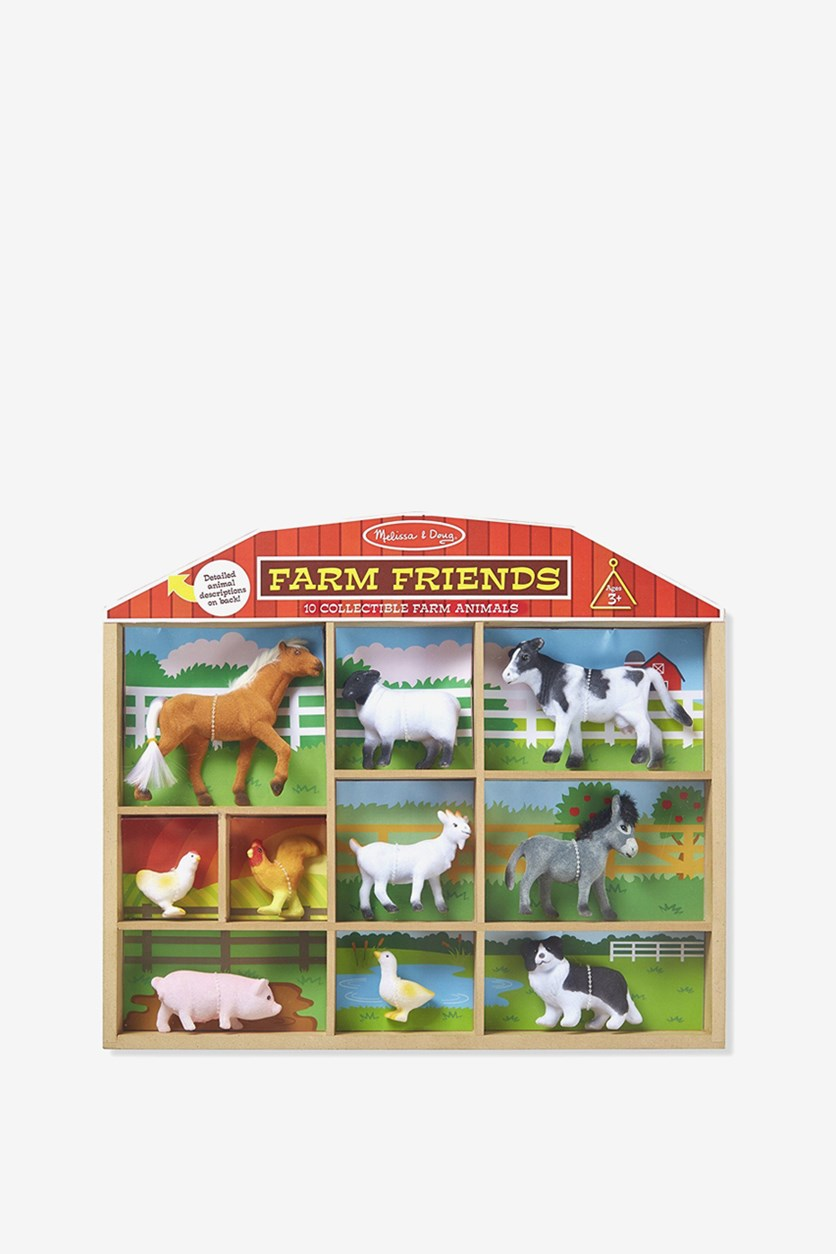 Collectible Farms Animals, Brown/White/Grey