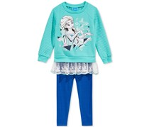 Girl's Frozen 2-Pc. Layered-Look Sweatshirt & Leggings Set, Blue
