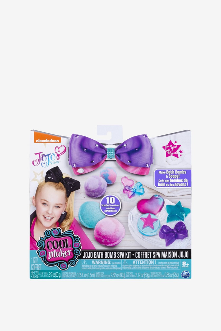 Cool Maker JoJo Siwa Bath Bomb and Soap Spa Activity Kit, White/Blue