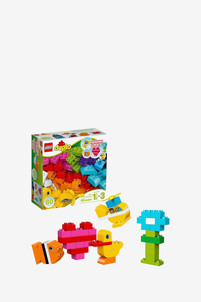 Duplo My First Bricks Colorful Building Kit, Red/Yellow/Green/Blue/Purple/Pink/Orange