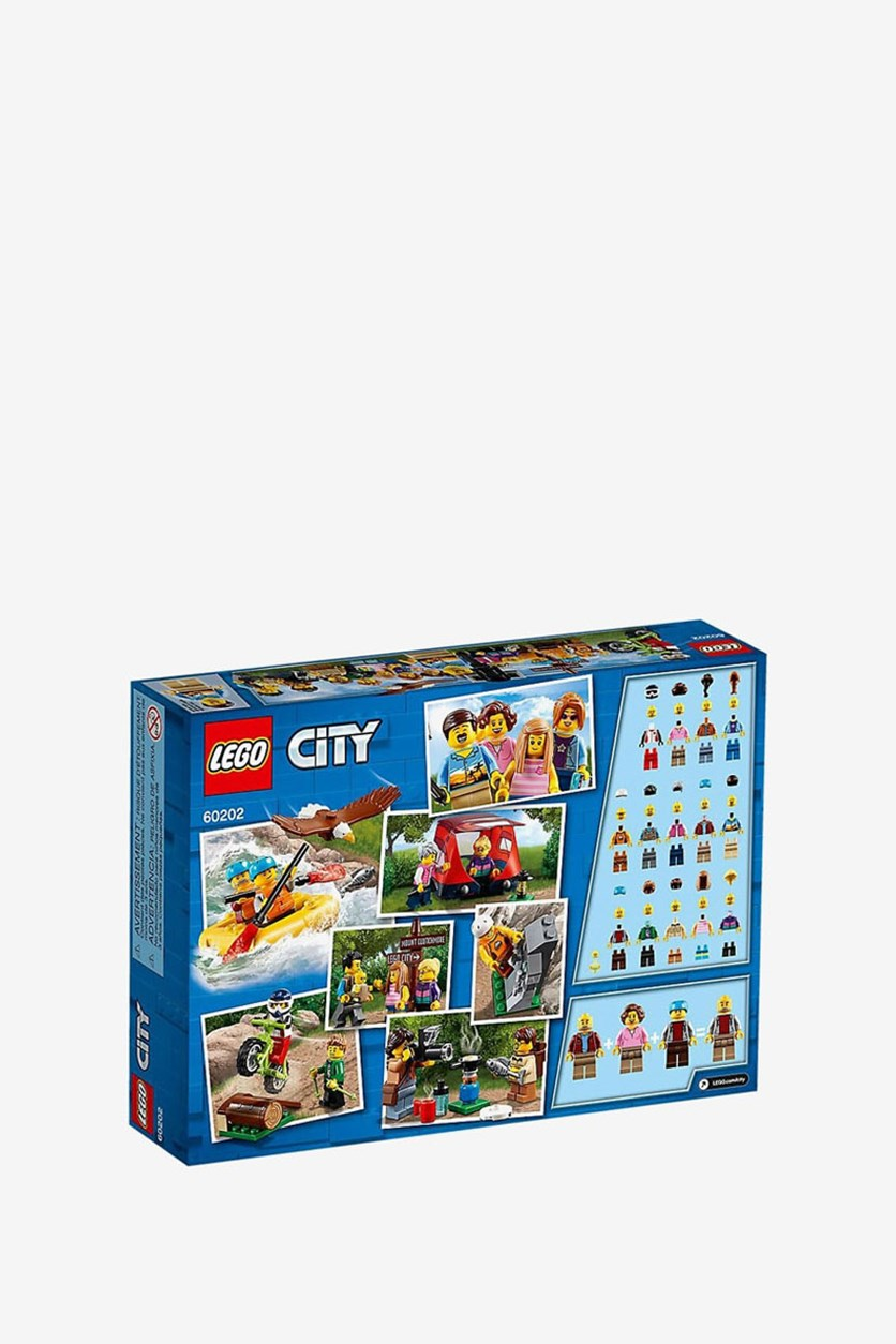 City Town People Pack Outdoor Adventures Building Set, Blue Combo