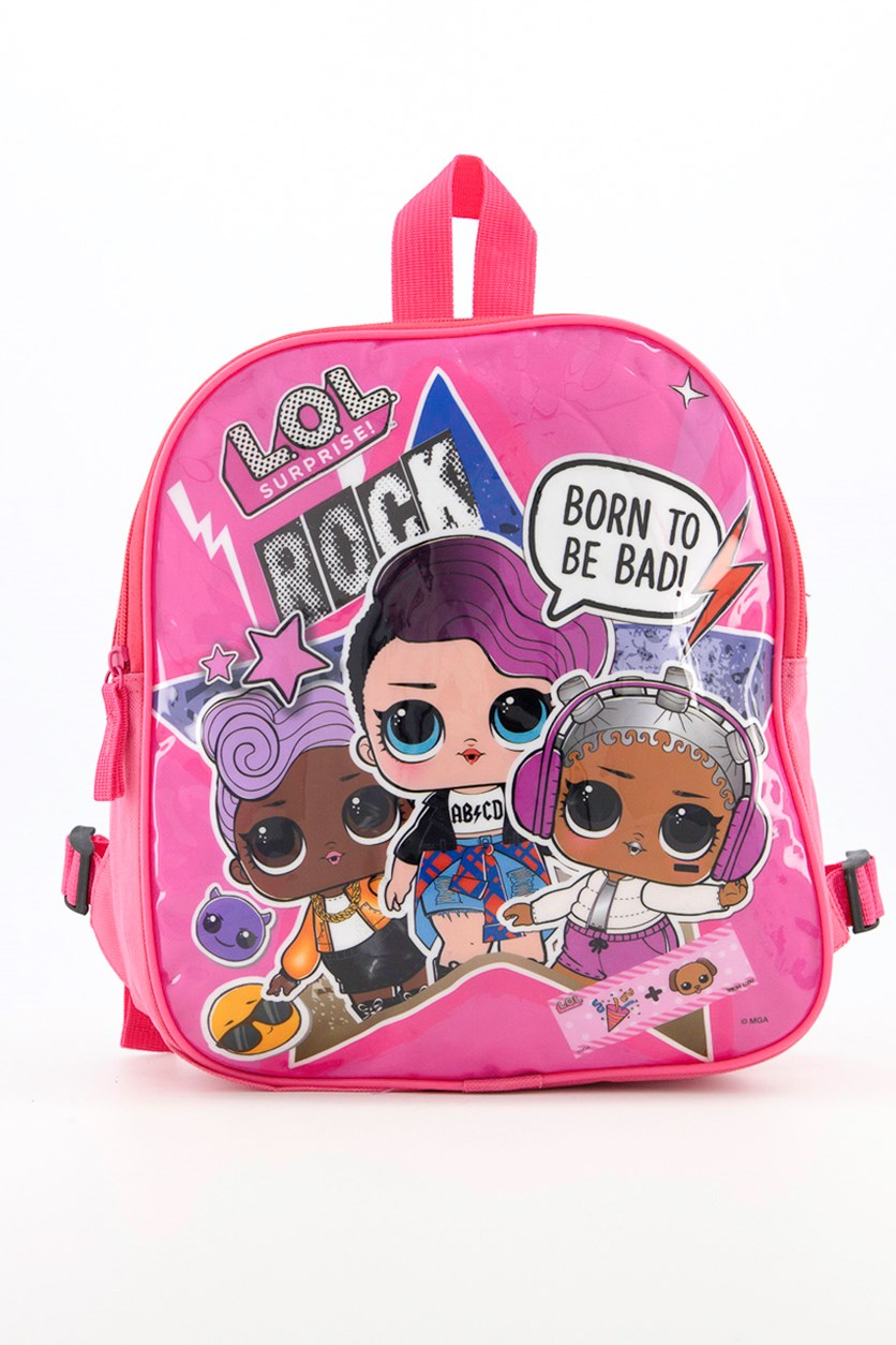 L.O.L Surprice Born To Be Bad Double Sided Backpack, Pink