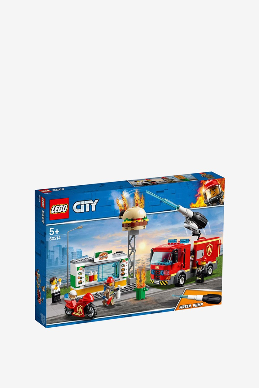Fire Service In The Burger Restaurant 60214 Set, Blue/Red