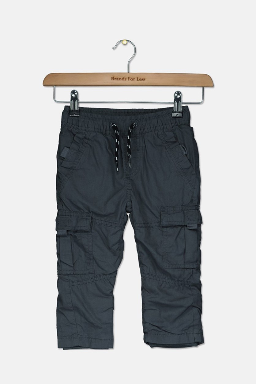 Kids Boys Polar Lining Inside Trouser Pants, Charcoal
