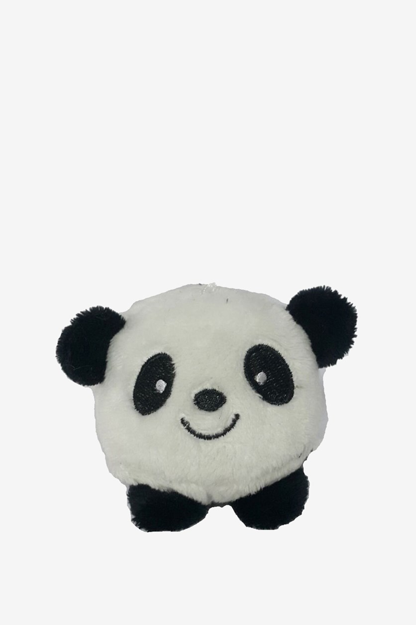 Panda Beanie Plush Toy, White/Black