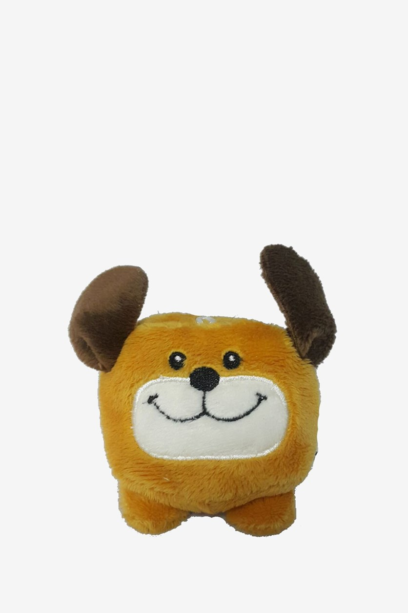 Dog Beanie Plush Toy, Orange/Brown