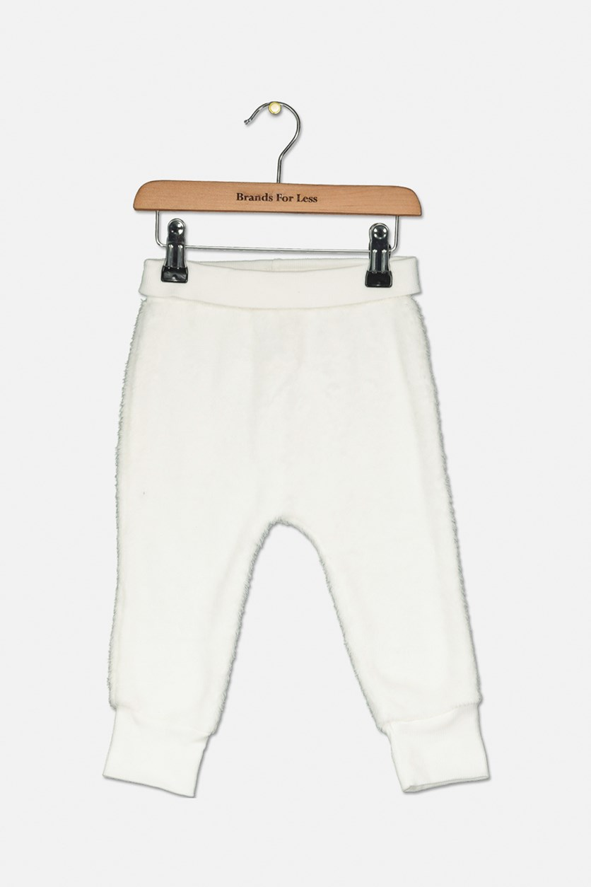 Unisex Baby Fleece Jogger Pants, Lily White