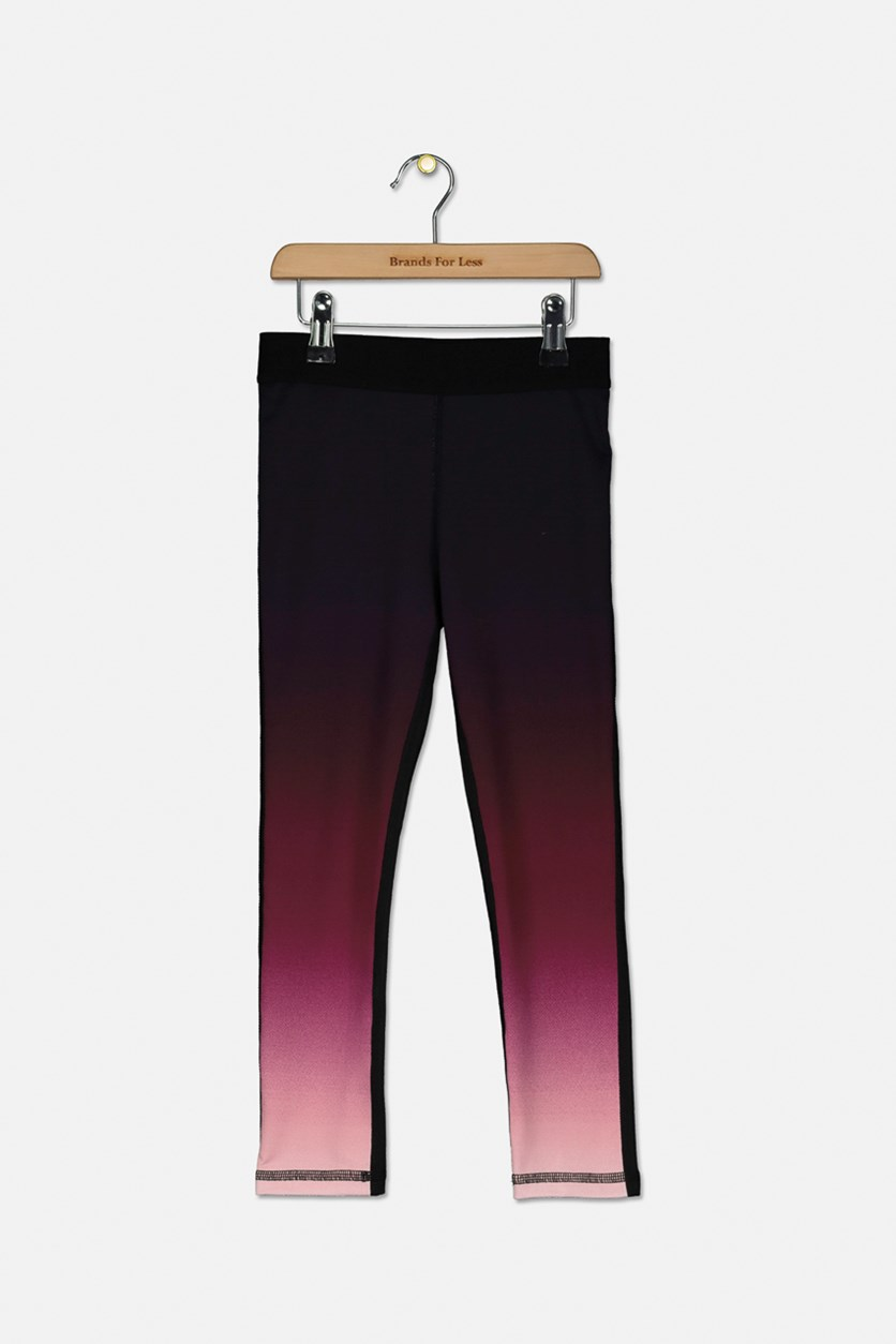 Little Girl's Ombre Leggings, Gradient Lilac