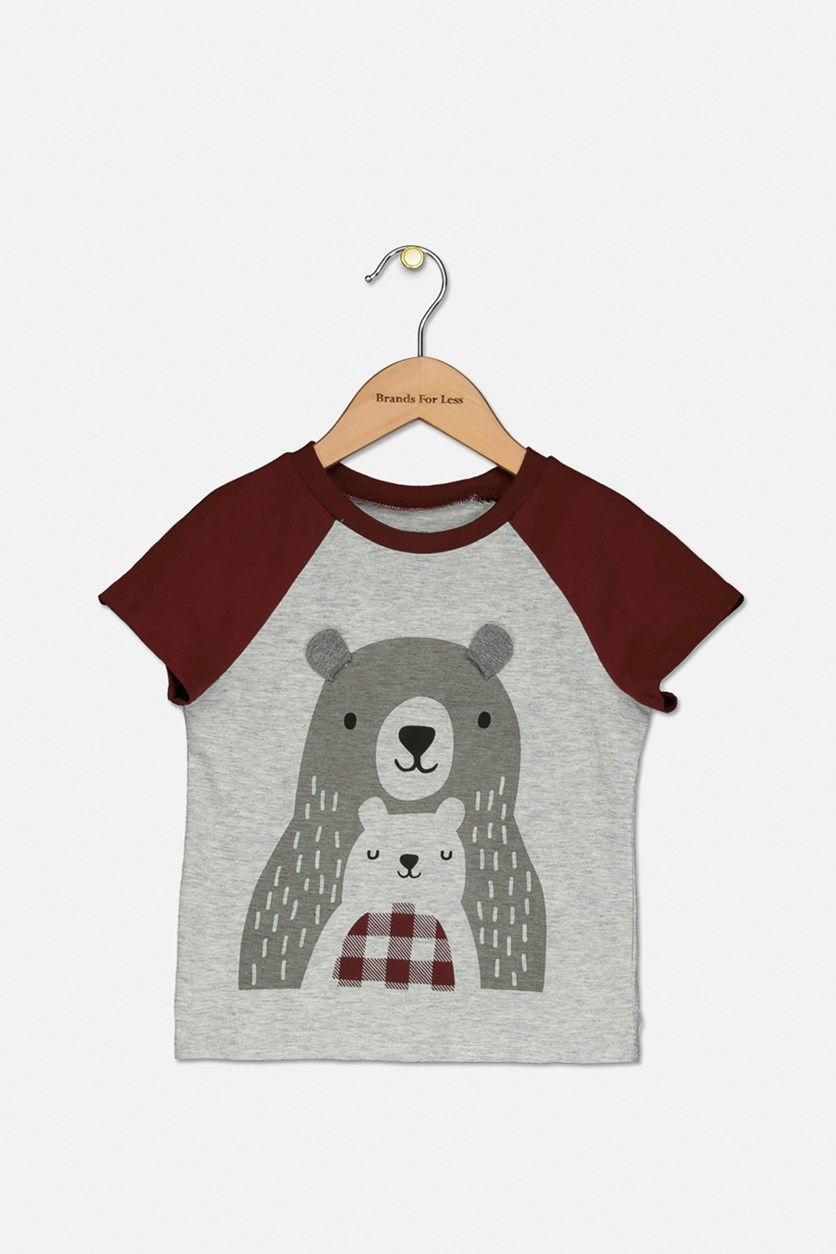 Baby Boy's Bears Graphic T-Shirt, Chrome Heater