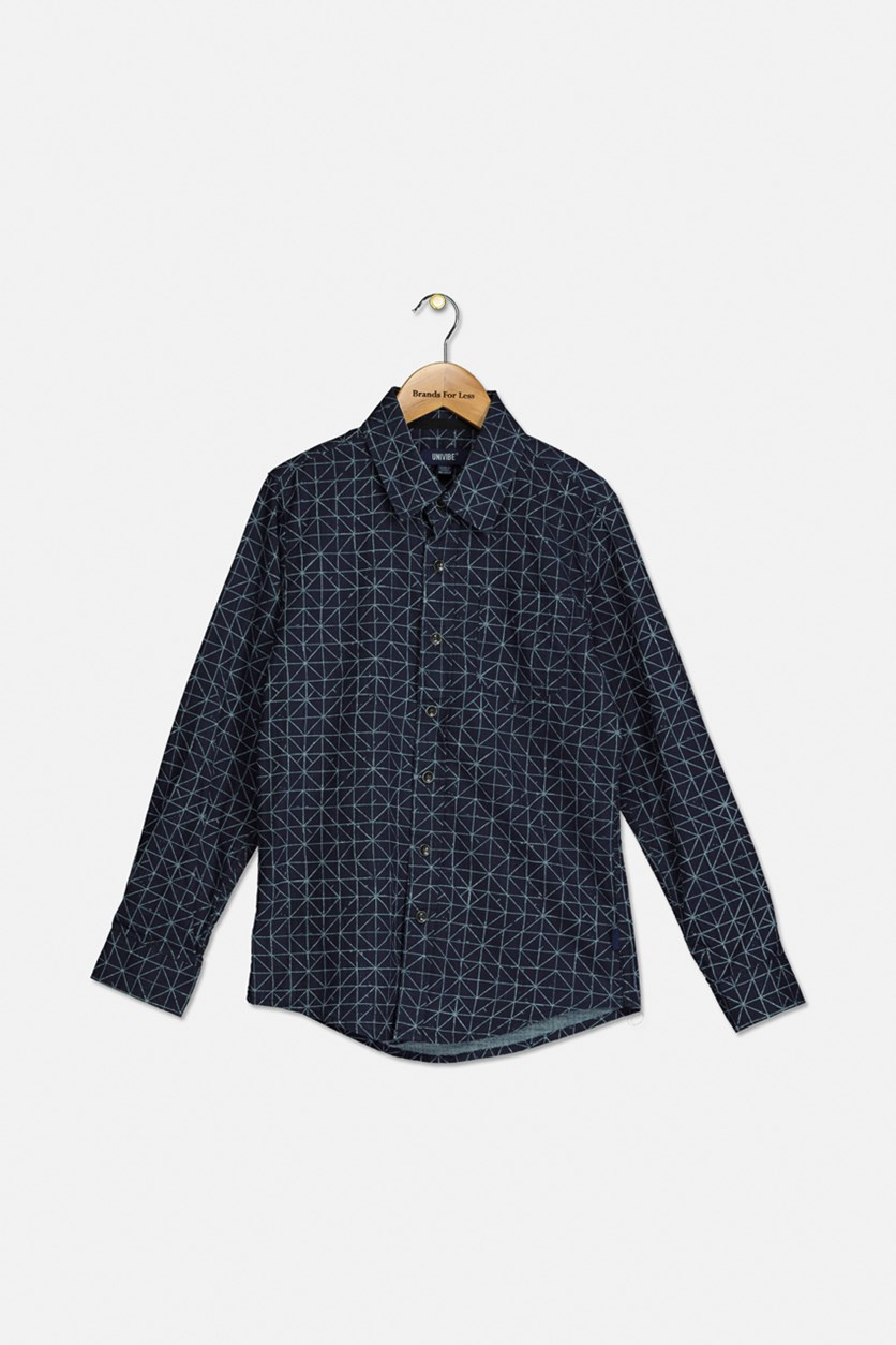 Big Boy's Barogram Chambray Shirt, Indigo