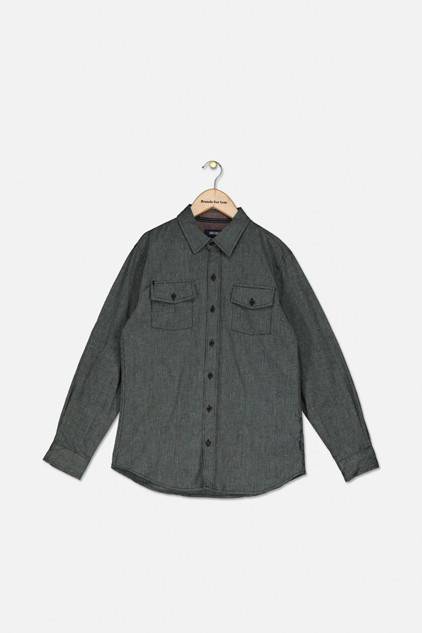 Big Boys Hudson Speckle Shirt, Black