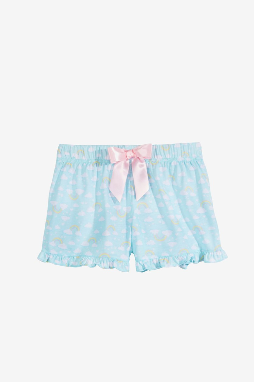 Big Girls Printed Pajama Shorts, Turquoise