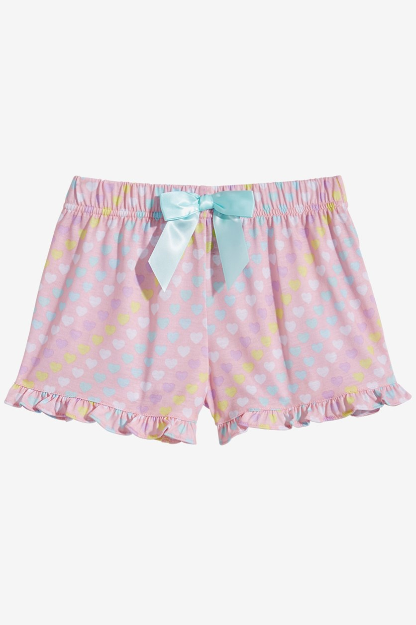 Big Girls Printed Pajama Shorts, Pink