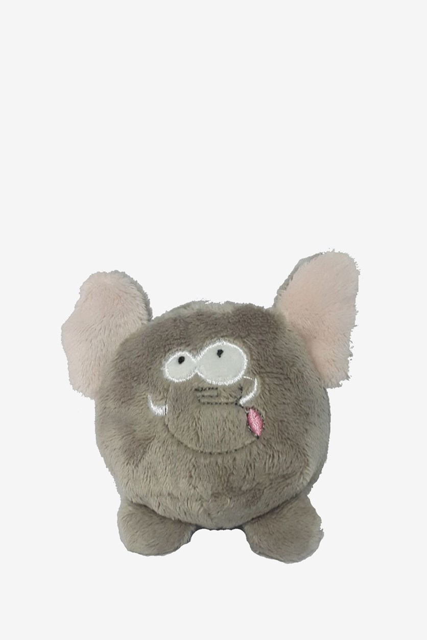 Elephant Beanie Plush Toy, Grey