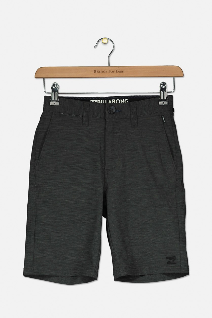 Kids Boys Crossfire X Shorts, Dark Grey