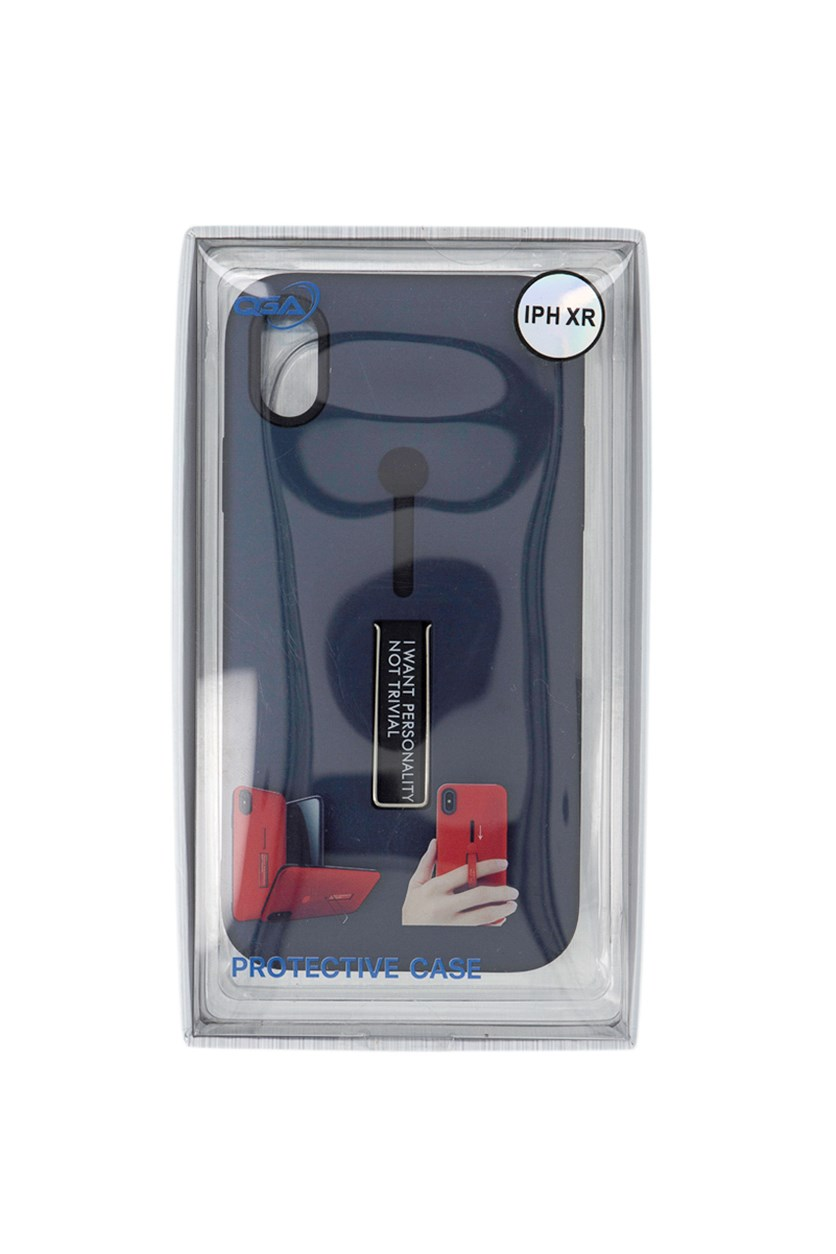 Finger Loop With Kickstand Case For iPhone XR, Navy