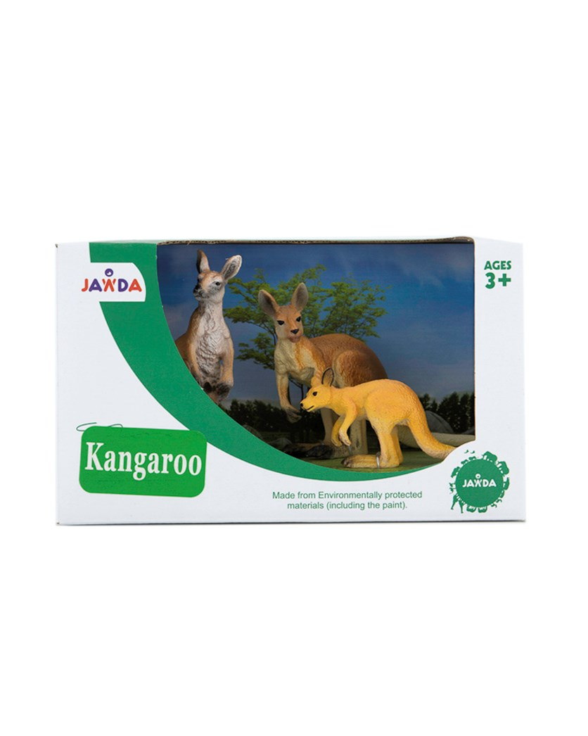 Animals Collections Kangaroo Set of 3, Brown