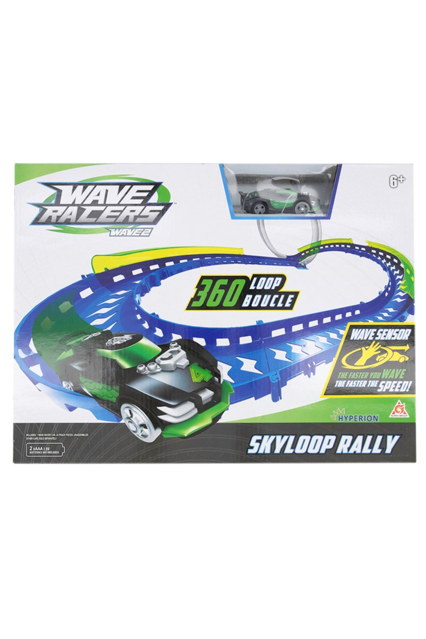 Wave Racers Skyloop Rally Playset, Green/Black