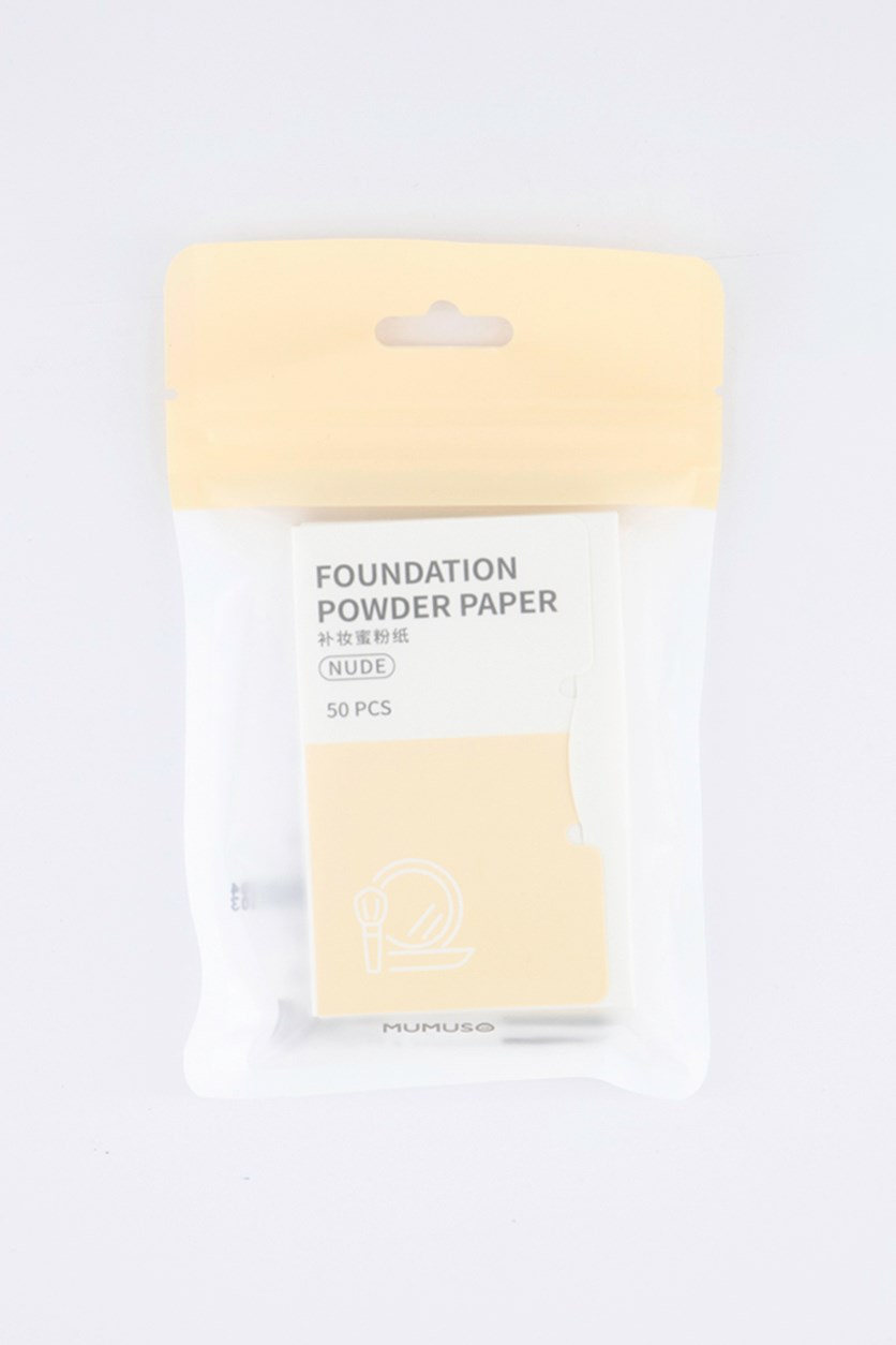Foundation Powder Paper 50pcs, Nude