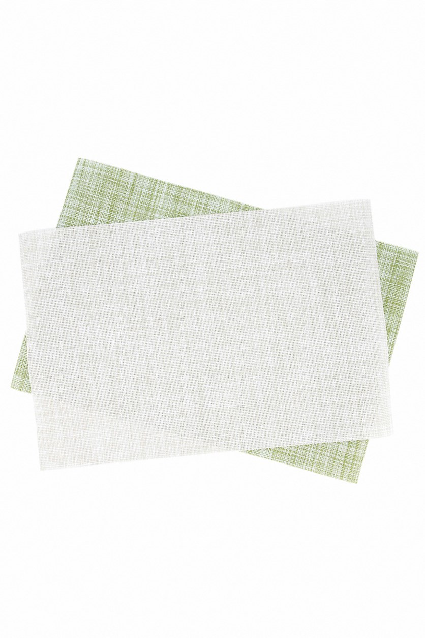 Textured Placemat, Grey/Green