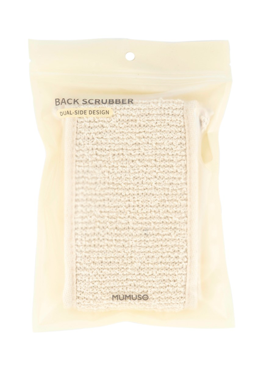 Dual-Side Design Back Scrubber, Beige