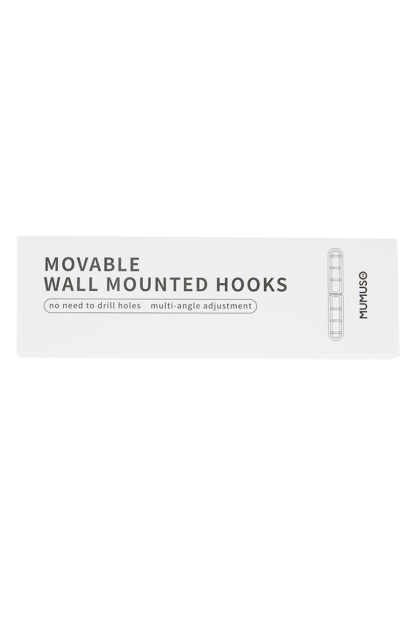 Movable Wall Mounted Hook, Pink