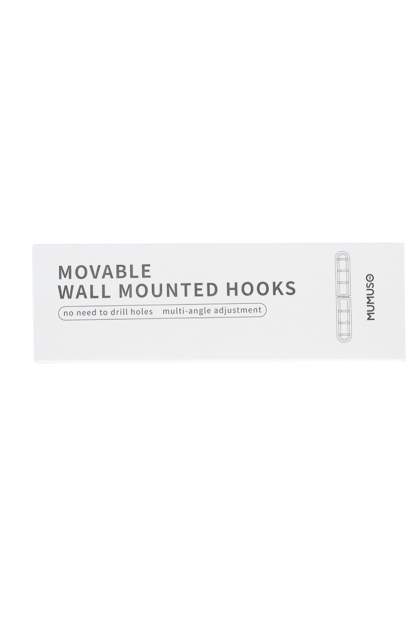 Movable Wall mounted Hooks, Blue