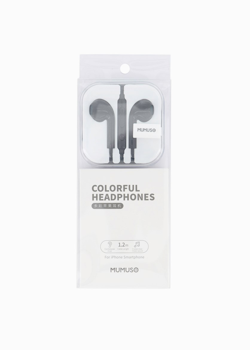 Colorful Headphones For Iphone, Black