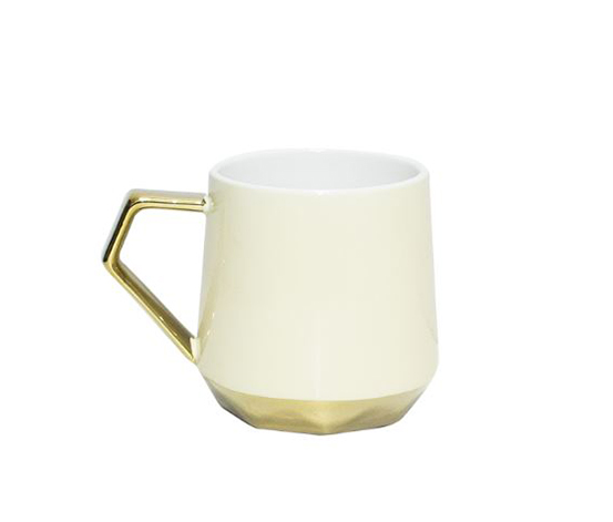 Gilded Ceramic Cup, Yellow