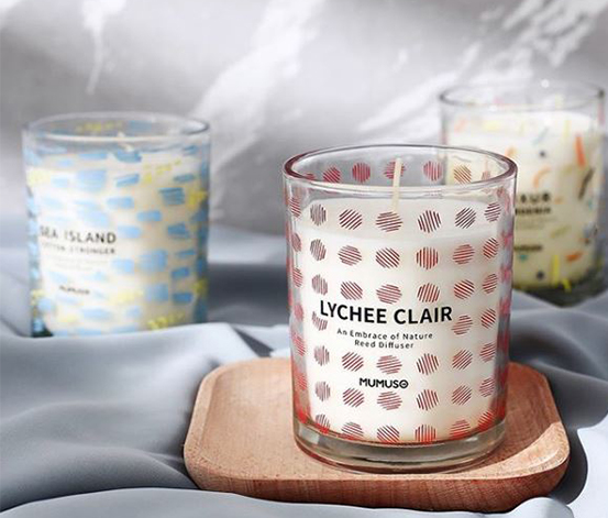 An Embrace Of Nature Scented Candle Lychee Clair