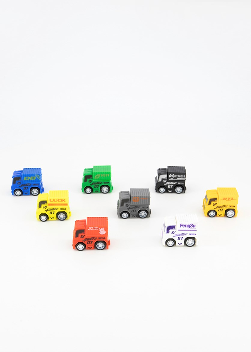 Truck Toy Set, Red/Yellow/White Combo