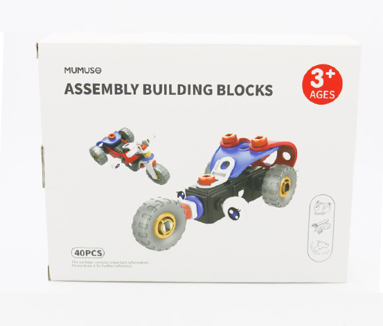 Assembly Building Blocks, Black/Red