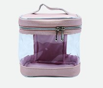 Cosmetic Case, Pink/Transparent