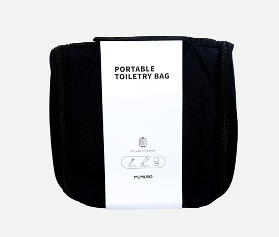 Portable Toiletry Bag, Black