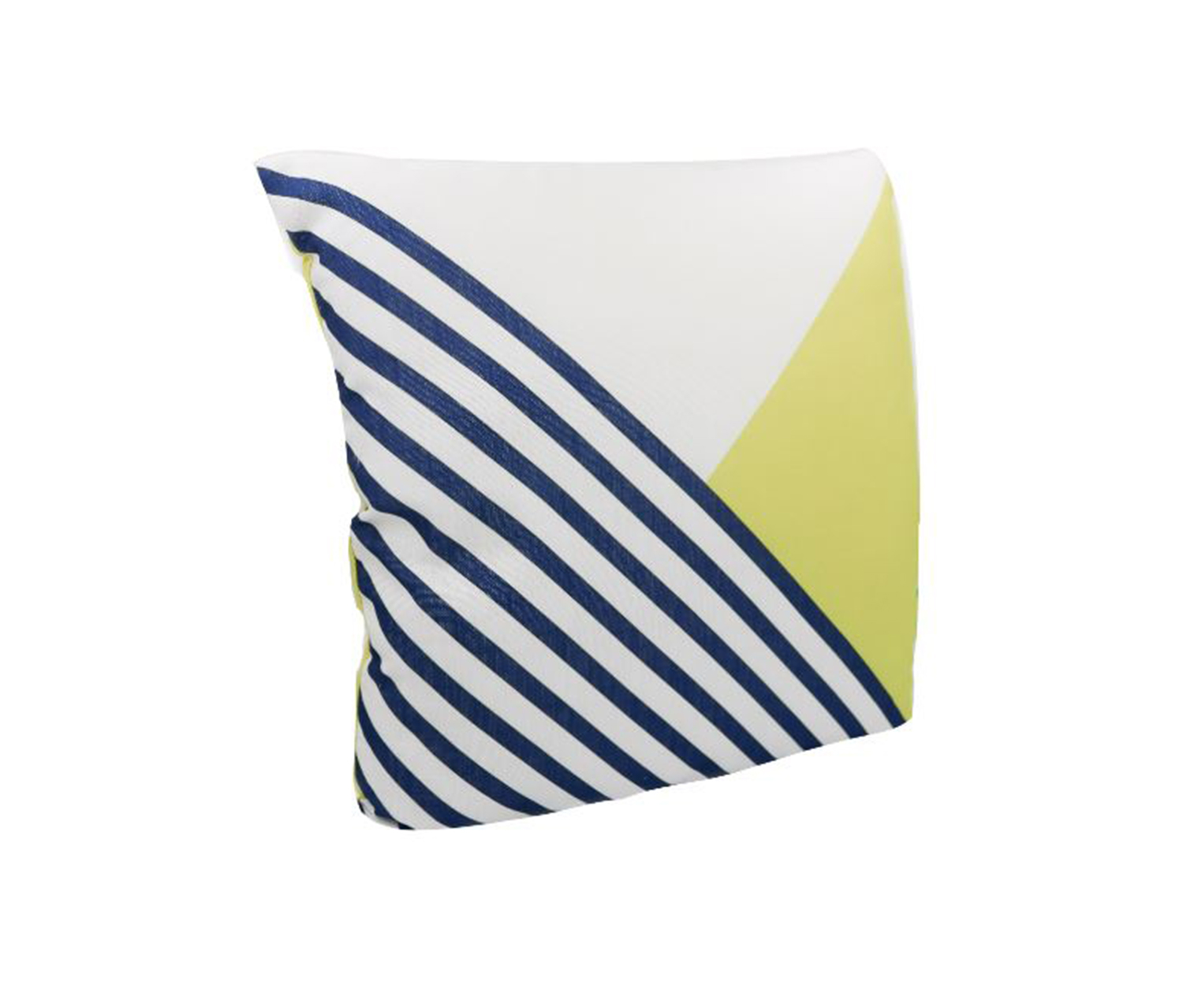 Throw Pillow, Lime Green/Navy/White
