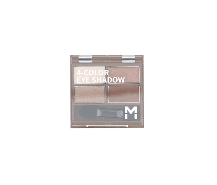 4 Color Eye Shadow Palette, #01 Earth Brown