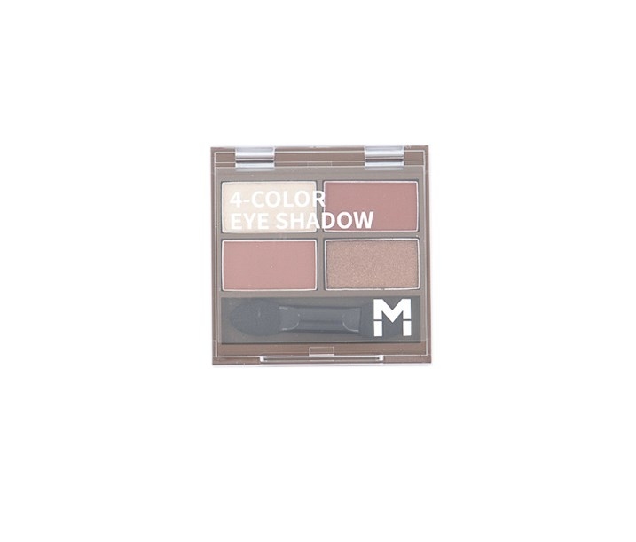 4 Color Eye Shadow Palette, #02 Dry Rose