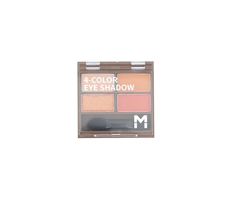 4 Color Eye Shadow Palette, #03 Warm Orange
