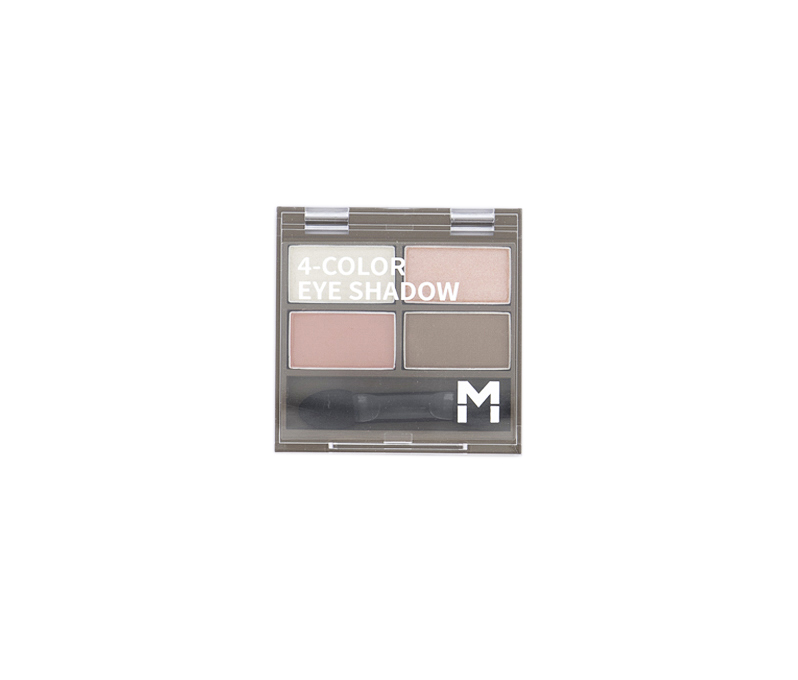 4 Color Eye Shadow Palette, #04 Peach Pink