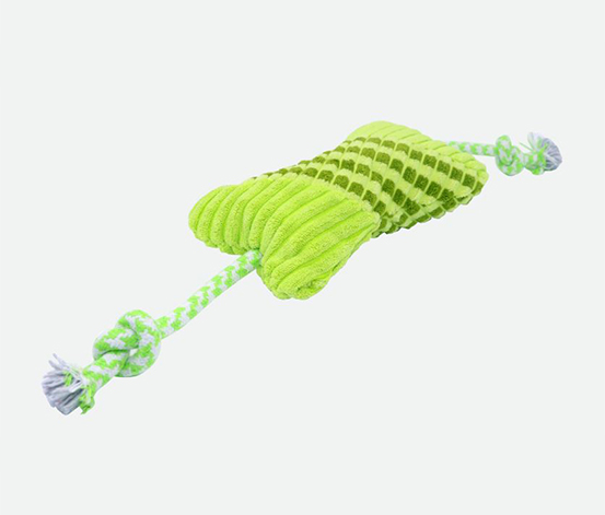 Bone Shaped Plush Toy, Green
