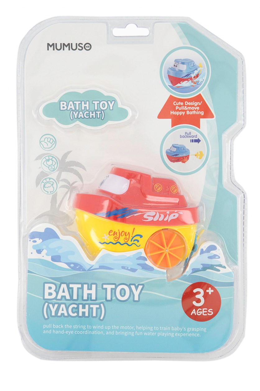 Bath Toy Yacht, Red/Yellow