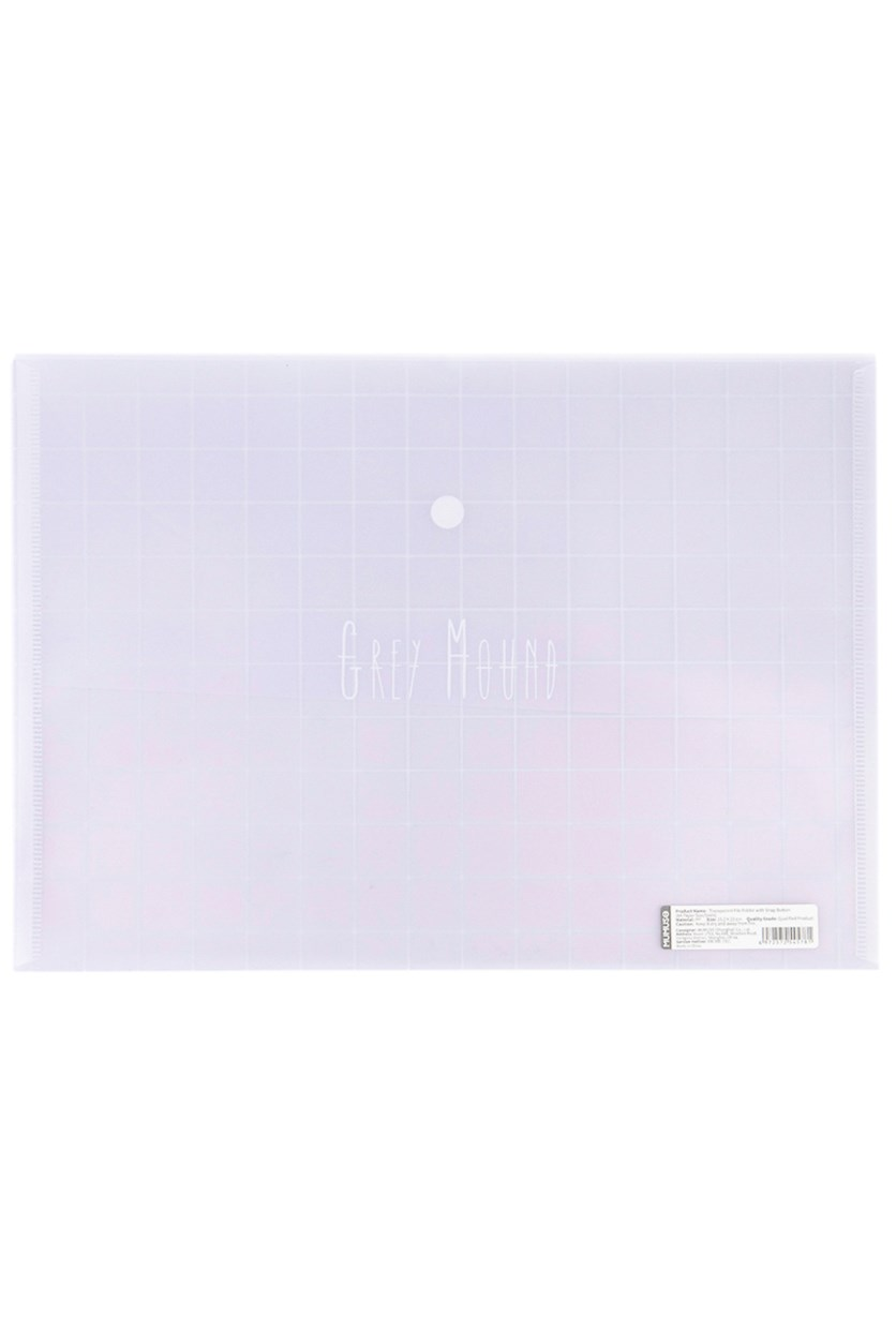 Transparent File Folder With Snap Button, Transparent