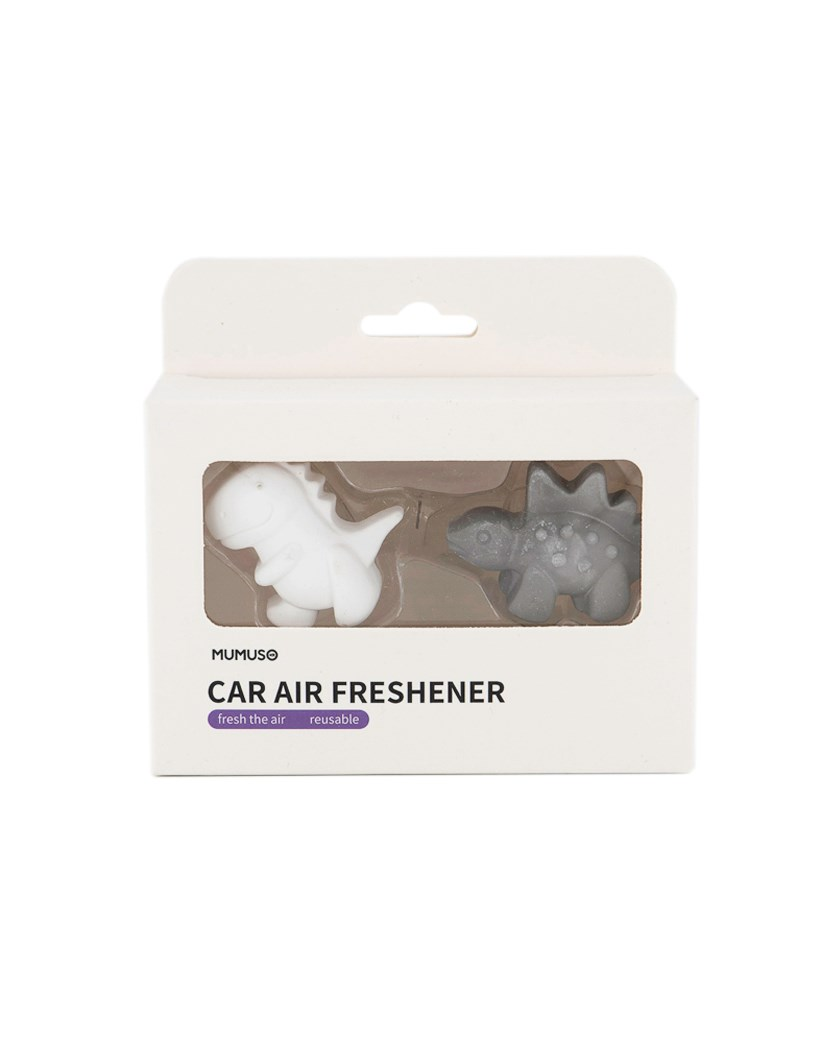 Animal Series Car Vent Clip Air Freshener 2 Pack, Grey/White
