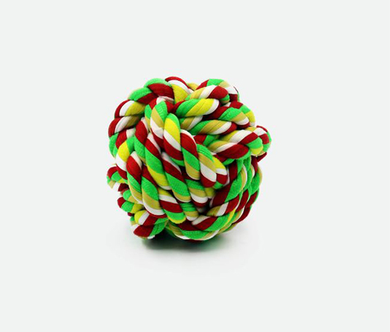 Round Cotton Rope, Green/Red/Yellow