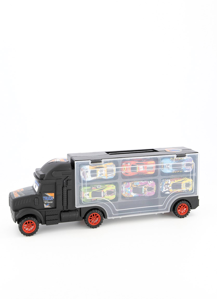 Portable Transport Truck Carrier Toy, Black Combo