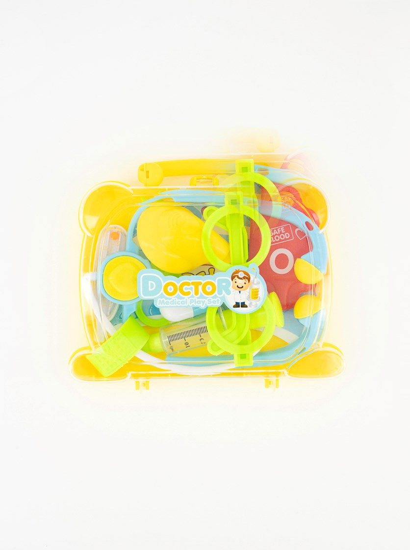 Medical Tools Playset With Suitcase, Yellow Combo