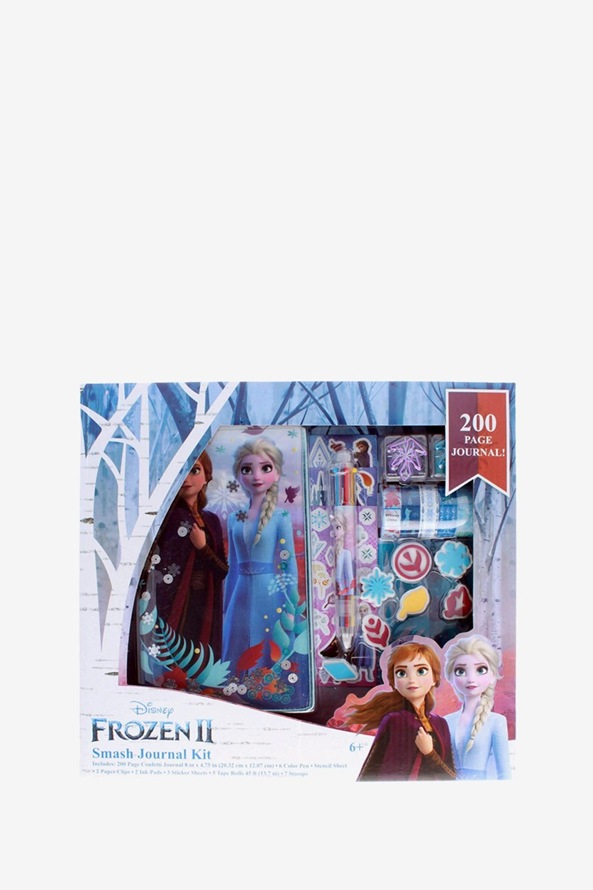 Frozen 2 Girls Smash Journal Gift Set Art Supplies, Light Blue